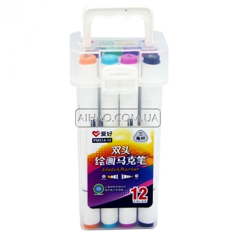 Набор двухсторонних Sketch Marker AH-PM514-12