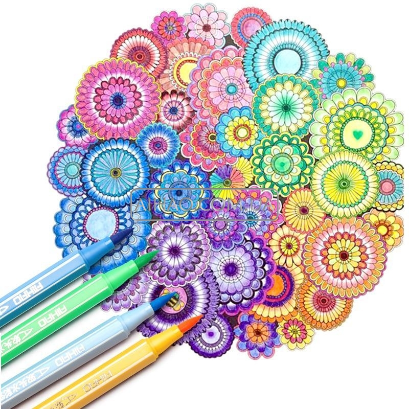 Набор цветных фломастеров для каллиграфии AH1555-24