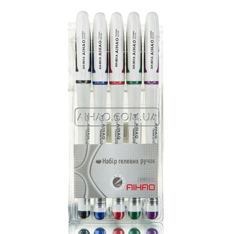Гелевые ручки AH 801-5