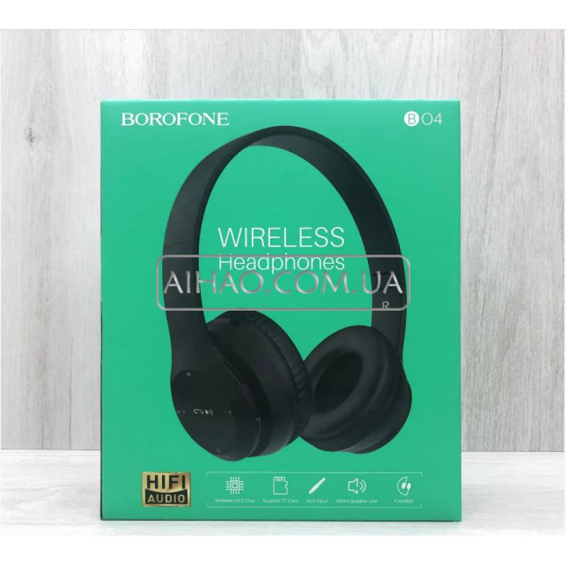 Беспроводные накладные наушники Borofone BO4