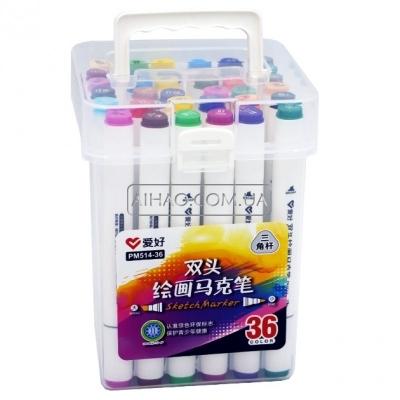 Набор двухсторонних Sketch Marker AH-PM514-36