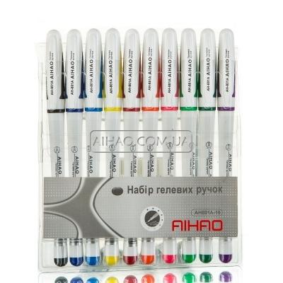 Гелевые ручки AH 801-10